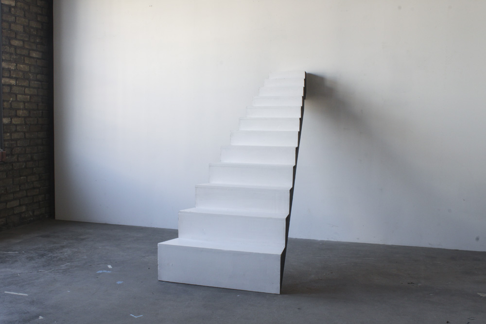 Stairs<br />wood, paint<br />2012