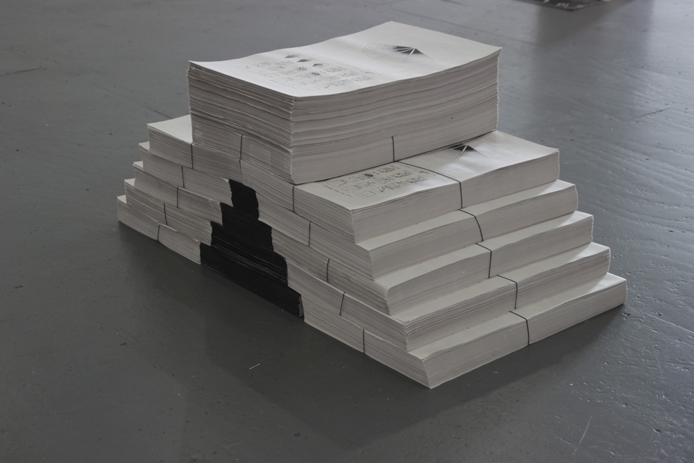 Plan For A Paper Monument<br />offset printed takeaway with custom origami instructions<br />2014